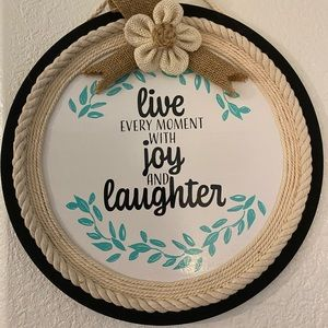 Wall Art - Live Every Moment With Joy & Laughter
